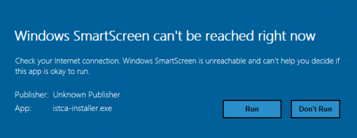 click Run on Windows SmartScreen window